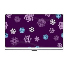 Winter Pattern 10 Business Card Holders by tarastyle