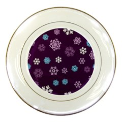 Winter Pattern 10 Porcelain Plates by tarastyle