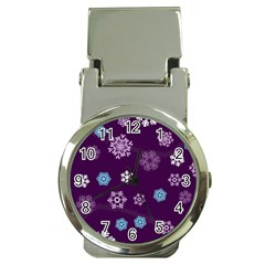Winter Pattern 10 Money Clip Watches by tarastyle