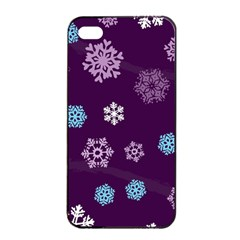 Winter Pattern 10 Apple Iphone 4/4s Seamless Case (black) by tarastyle