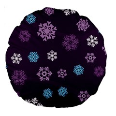 Winter Pattern 10 Large 18  Premium Round Cushions by tarastyle