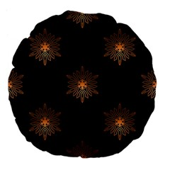 Winter Pattern 11 Large 18  Premium Flano Round Cushions by tarastyle