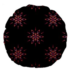 Winter Pattern 12 Large 18  Premium Round Cushions by tarastyle