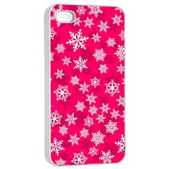 Winter Pattern 13 Apple Iphone 4/4s Seamless Case (white) by tarastyle
