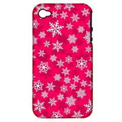 Winter Pattern 13 Apple Iphone 4/4s Hardshell Case (pc+silicone) by tarastyle