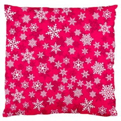 Winter Pattern 13 Large Flano Cushion Case (one Side) by tarastyle