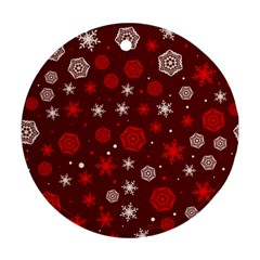 Winter Pattern 14 Round Ornament (two Sides) by tarastyle