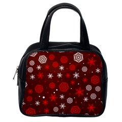 Winter Pattern 14 Classic Handbags (one Side) by tarastyle