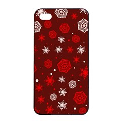 Winter Pattern 14 Apple Iphone 4/4s Seamless Case (black) by tarastyle