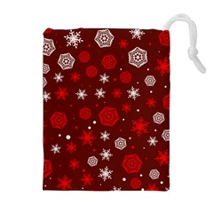 Winter Pattern 14 Drawstring Pouches (extra Large) by tarastyle