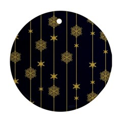 Winter Pattern 15 Ornament (round) by tarastyle