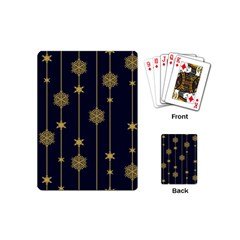 Winter Pattern 15 Playing Cards (mini)  by tarastyle