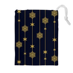 Winter Pattern 15 Drawstring Pouches (extra Large) by tarastyle