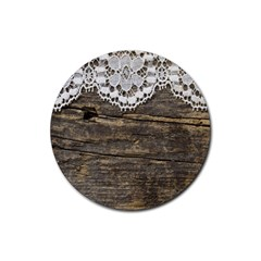 Shabbychicwoodwall Rubber Coaster (round)  by 8fugoso