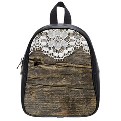 Shabbychicwoodwall School Bag (small) by 8fugoso