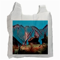 Modern Norway Painting Recycle Bag (one Side) by 8fugoso