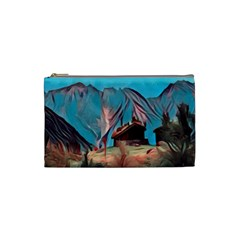 Modern Norway Painting Cosmetic Bag (small)  by 8fugoso