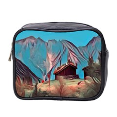Modern Norway Painting Mini Toiletries Bag 2 Side by 8fugoso
