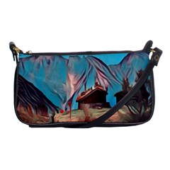 Modern Norway Painting Shoulder Clutch Bags by 8fugoso