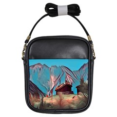 Modern Norway Painting Girls Sling Bags by 8fugoso