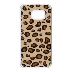 Leopard Print Samsung Galaxy S7 White Seamless Case by TRENDYcouture