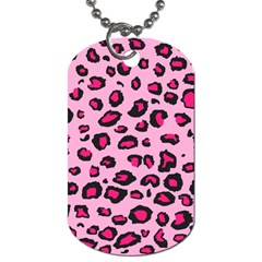 Pink Leopard Dog Tag (two Sides)