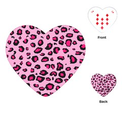 Pink Leopard Playing Cards (heart)