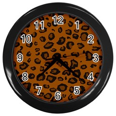 Dark Leopard Wall Clocks (black) by TRENDYcouture