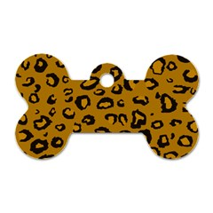 Golden Leopard Dog Tag Bone (one Side) by TRENDYcouture