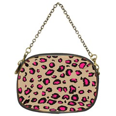 Pink Leopard 2 Chain Purses (two Sides)  by TRENDYcouture