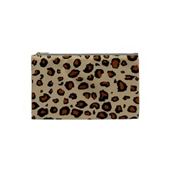 Leopard Print Cosmetic Bag (small)  by DreamCanvas