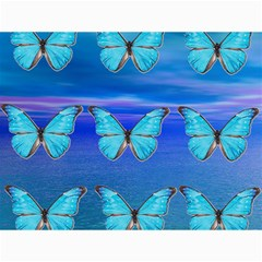 Blue Butterflies Canvas 12  X 16   by icarusismartdesigns