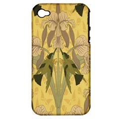 Art Nouveau Apple Iphone 4/4s Hardshell Case (pc+silicone) by 8fugoso