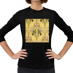 Art Nouveau Women s Long Sleeve Dark T Shirts by 8fugoso