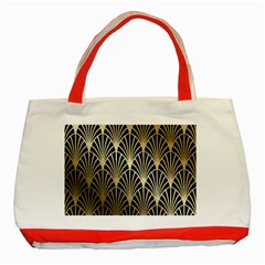 Art Deco Classic Tote Bag (red)