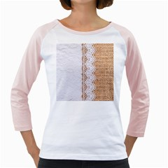 Parchement,lace And Burlap Girly Raglans by 8fugoso