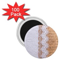 Parchement,lace And Burlap 1 75  Magnets (100 Pack)  by 8fugoso