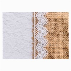 Parchement,lace And Burlap Large Glasses Cloth (2 Side) by 8fugoso
