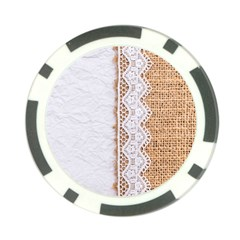 Parchement,lace And Burlap Poker Chip Card Guard (10 Pack) by 8fugoso