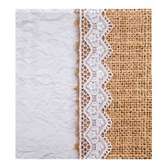 Parchement,lace And Burlap Shower Curtain 66  X 72  (large)  by 8fugoso