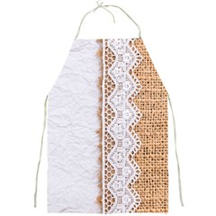 Parchement,lace And Burlap Full Print Aprons by 8fugoso