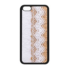 Parchement,lace And Burlap Apple Iphone 5c Seamless Case (black) by 8fugoso