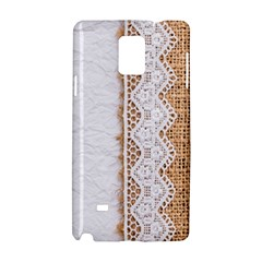 Parchement,lace And Burlap Samsung Galaxy Note 4 Hardshell Case by 8fugoso
