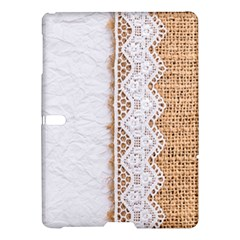 Parchement,lace And Burlap Samsung Galaxy Tab S (10 5 ) Hardshell Case  by 8fugoso