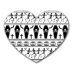 Halloween pattern Heart Mousepads Front