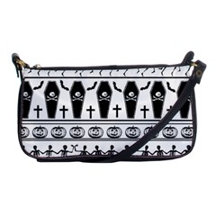 Halloween Pattern Shoulder Clutch Bags by ValentinaDesign