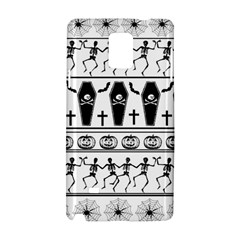 Halloween Pattern Samsung Galaxy Note 4 Hardshell Case by ValentinaDesign