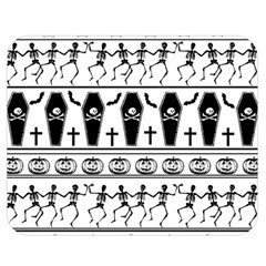 Halloween Pattern Double Sided Flano Blanket (medium)  by ValentinaDesign