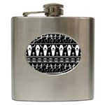 Halloween pattern Hip Flask (6 oz) Front