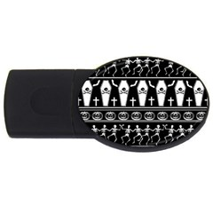 Halloween Pattern Usb Flash Drive Oval (4 Gb) by ValentinaDesign